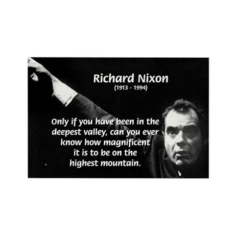 Motivation Richard Nixon Rectangle Magnet (100 pac