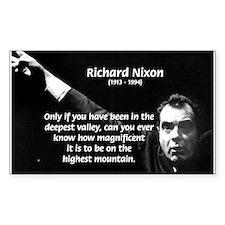 Motivation Richard Nixon Rectangle Decal