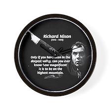 Motivation Richard Nixon Wall Clock