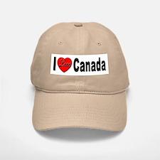 I Love Canada Baseball Baseball Cap