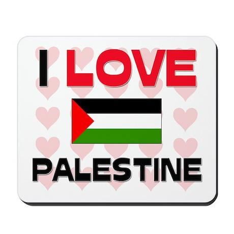 I Love Palestine Mousepad