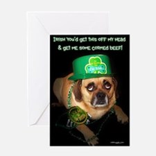 Funny Mc Puggle Greeting Card
