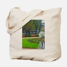 The Lady With An Umbrella Tote Bag