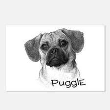 Perfect Puggle Portrait Postcards (Package of 8)
