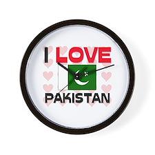 I Love Pakistan Wall Clock