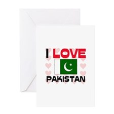 I Love Pakistan Greeting Card