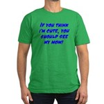 Cute Men's Fitted T-Shirt (dark)
