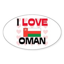 I Love Oman Oval Decal