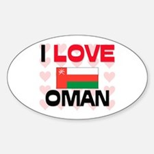 I Love Oman Oval Decal