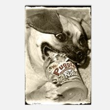 Puggle Peanut Butter Postcards (Package of 8)