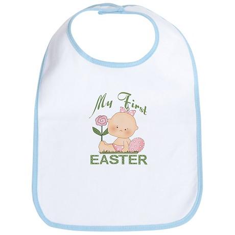 1st Easter Baby Girl Bib