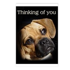 """Mr. Puggle is, """"Thinking of You."""" Postcards (Packa"""