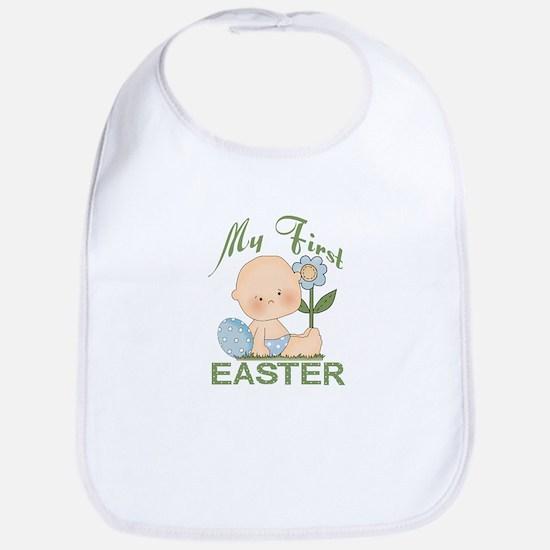 1st Easter Baby Boy Bib