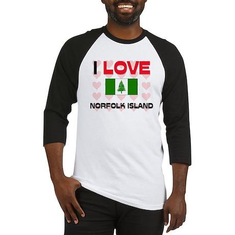I Love Norfolk Island Baseball Jersey