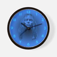 Blue Lady (no text) Wall Clock