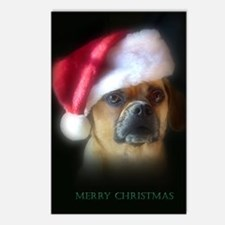 Puggle Christmas Gift Postcards (Package of 8)