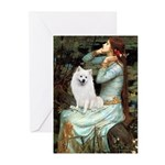 Ophelia / Eskimo Spitz #1 Greeting Cards (Pk of 10