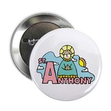"""St. Anthony 2.25"""" Button (100 pack)"""