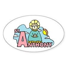 St. Anthony Oval Decal