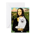 Mona / Eskimo Spitz #1 Greeting Cards (Pk of 10)