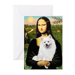 Mona / Eskimo Spitz #1 Greeting Cards (Pk of 20)
