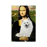 Mona / Eskimo Spitz #1 Rectangle Magnet