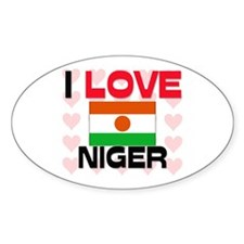I Love Niger Oval Decal