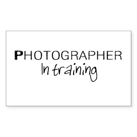 Photographer in Training Rectangle Sticker