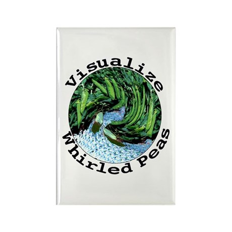 Visualize Whirled Peas Rectangle Magnet (10 pack)