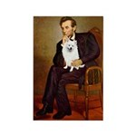 Lincoln / Eskimo Spitz #1 Rectangle Magnet (100 pa