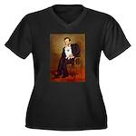 Lincoln / Eskimo Spitz #1 Women's Plus Size V-Neck