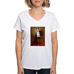 Lincoln / Eskimo Spitz #1 Women's V-Neck T-Shirt