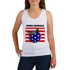American Flag Ferret Stars & Stripes Women's Tank