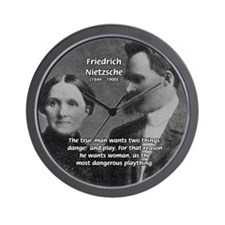 Man and Woman: Nietzsche Wall Clock