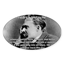Christian Morality / Nietzsche Oval Decal