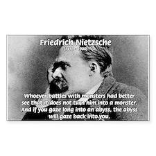 Christian Morality / Nietzsche Sticker (Rectangula