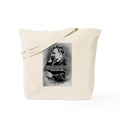 Christian Morality / Nietzsche Tote Bag