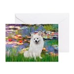Lilies / Eskimo Spitz #1 Greeting Cards (Pk of 10)