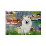 Lilies / Eskimo Spitz #1 Rectangle Magnet (10 pack