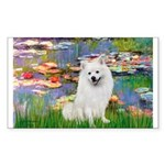 Lilies / Eskimo Spitz #1 Sticker (Rectangle)