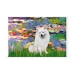 Lilies / Eskimo Spitz #1 Mini Poster Print