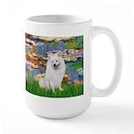 Lilies / Eskimo Spitz #1 Large Mug
