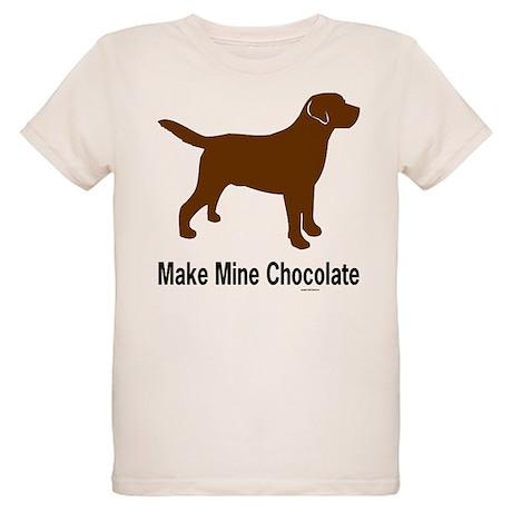 Make Mine Chocolate Lab Organic Kids T-Shirt
