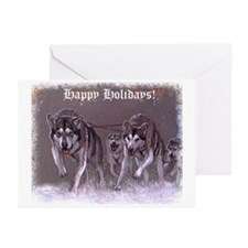 Alaskan Malamute Christmas Cards (Pk of 10)