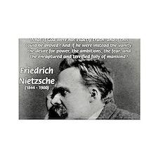 Vanity God and Nietzsche Rectangle Magnet (100 pac
