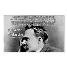 Vanity God and Nietzsche Rectangle Decal