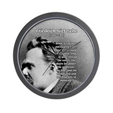 Vanity God and Nietzsche Wall Clock