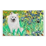 Irises / Eskimo Spitz #1 Sticker (Rectangle)