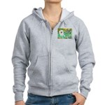 Irises / Eskimo Spitz #1 Women's Zip Hoodie
