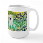 Irises / Eskimo Spitz #1 Large Mug